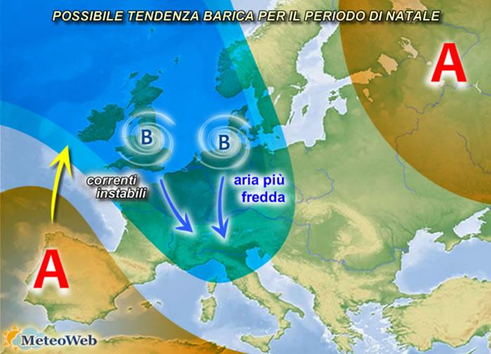 Cartina Meteorologica Dell Italia.Le Previsioni Meteo Per Natale 2020 Tendenza Di Freddo E Maltempo Per Le Festivita