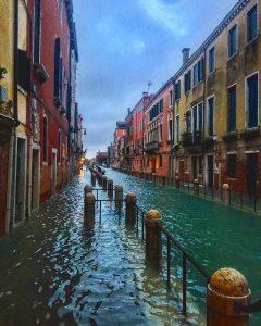 acqua alta venezia chioggia 8 dicembre 2020