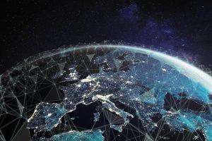 connessione satelliti spazio europa italia