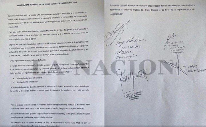 documento dimissioni maradona