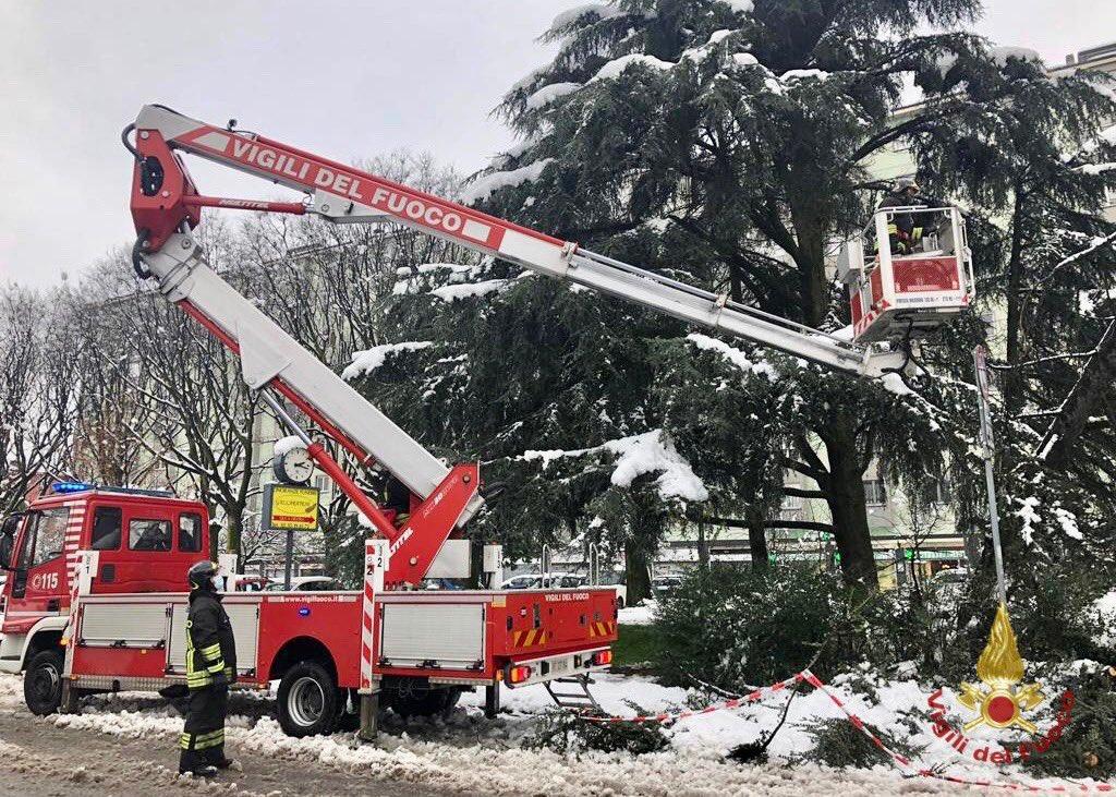 maltempo neve vigili del fuoco
