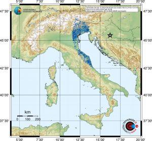 terremoto croazia nord italia