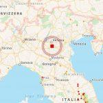 Terremoto, forte scossa tra Veneto, Lombardia ed Emilia Romagna alle 15:36: epicentro a Salizzole (Verona), magnitudo 4.4