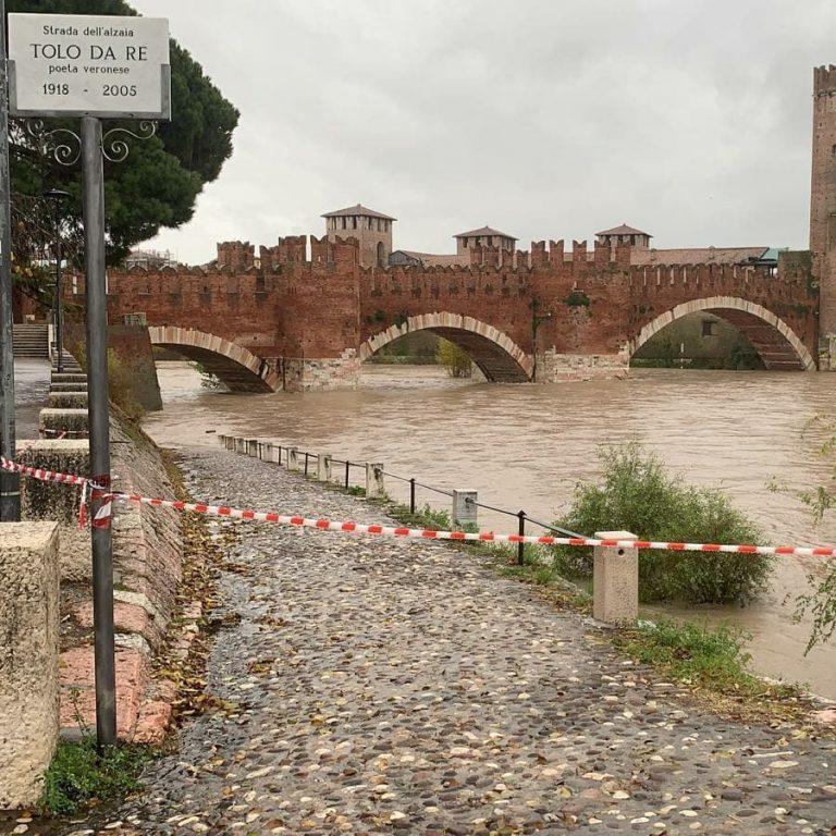 La piena dell'Adige a Verona