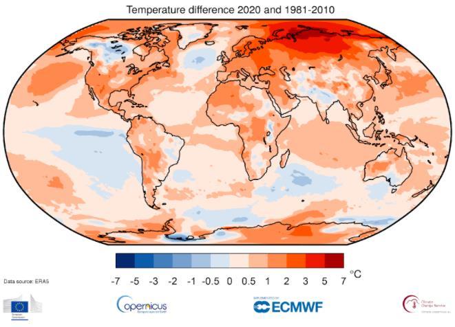 copernicus 2020 caldo