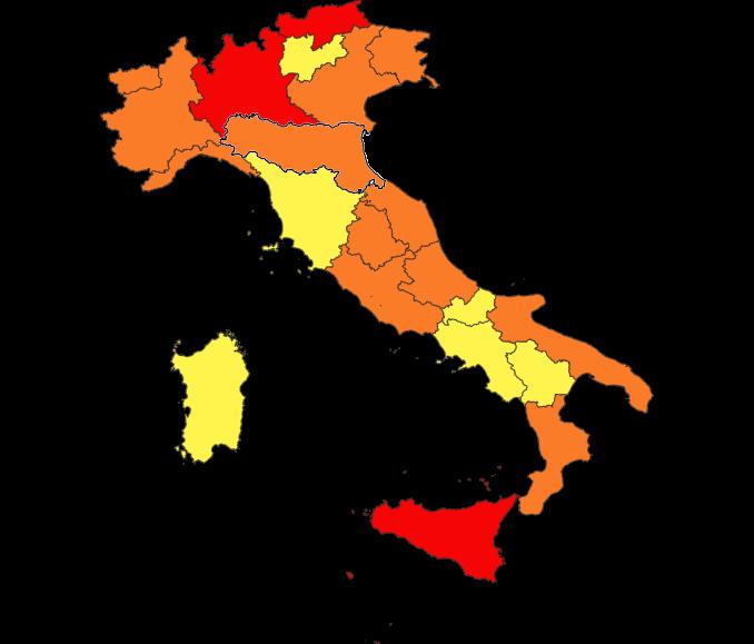 dpcm italia colori 17 gennaio