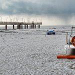 Maltempo Toscana, lo spettacolo della neve in riva al mare: spiagge imbiancate da Viareggio a Forte dei Marmi [FOTO]