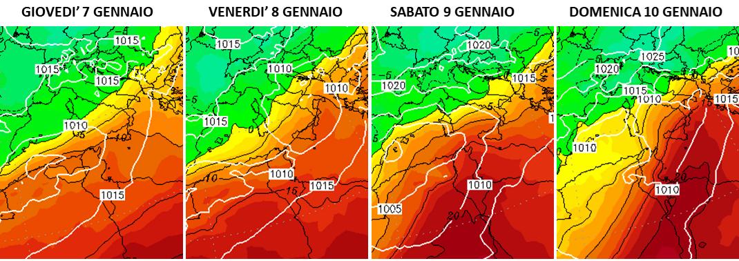 previsioni meteo caldo sud italia gennaio 2021