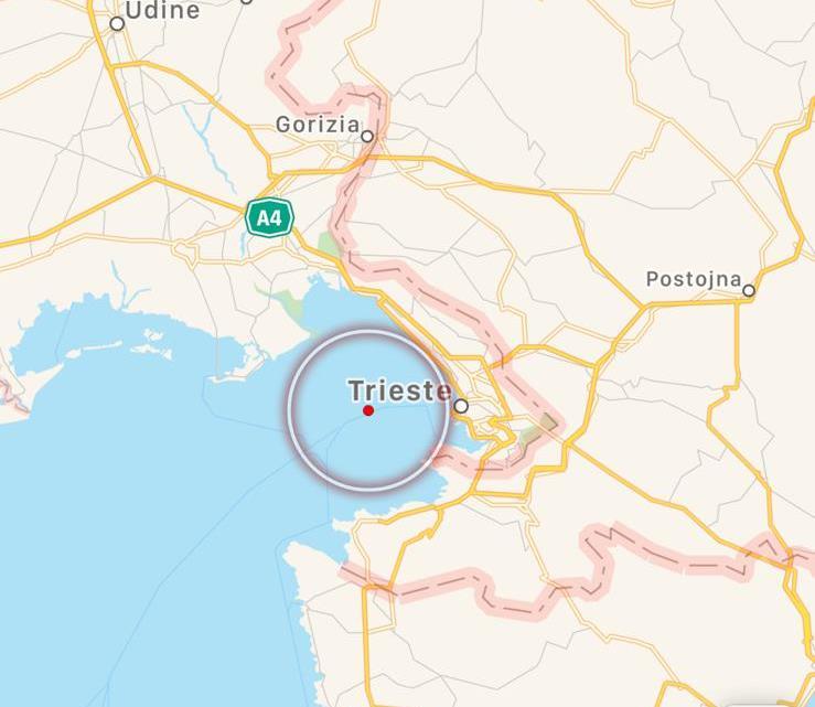terremoto golfo di trieste