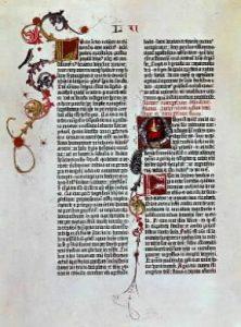 bibbia miniata gutenberg