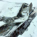 Maltempo: crolla sotto il peso della neve il palaghiaccio di Vipiteno, Vigili del Fuoco sul posto – FOTO LIVE