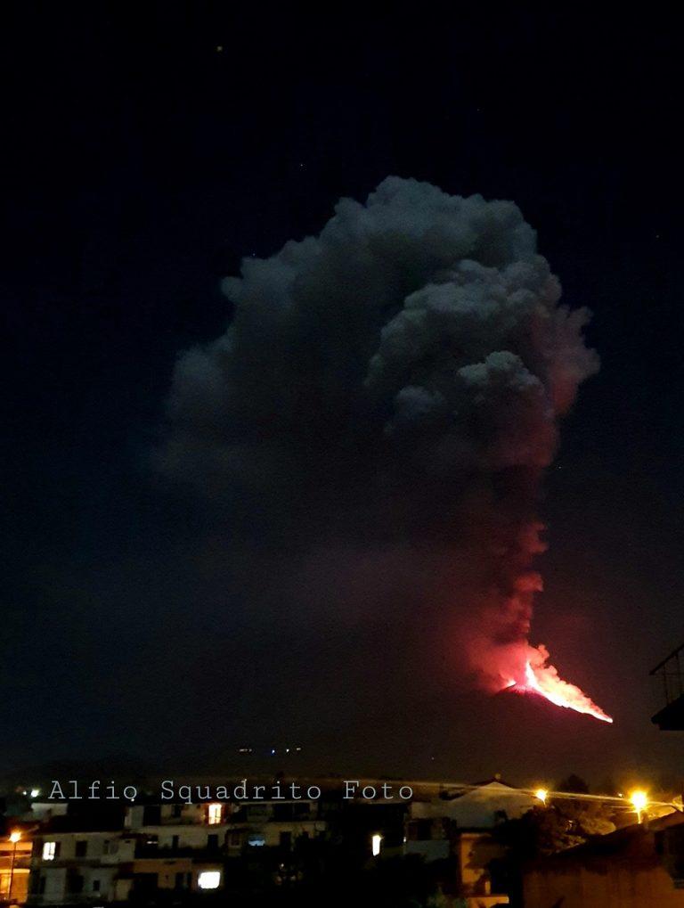 L'Etna da Pedara. Foto Alfio Squadrito
