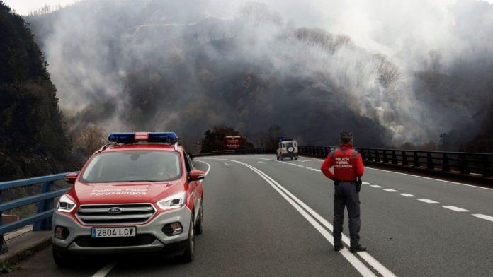 incendi spagna francia