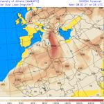 Previsioni Meteo, l'ondata di caldo porta sull'Italia un'enorme nuvola di sabbia del Sahara: sarà una Domenica di pioggia e neve gialla
