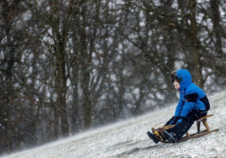 Neve a Heiloo. Foto Koen Van Weel / Ansa