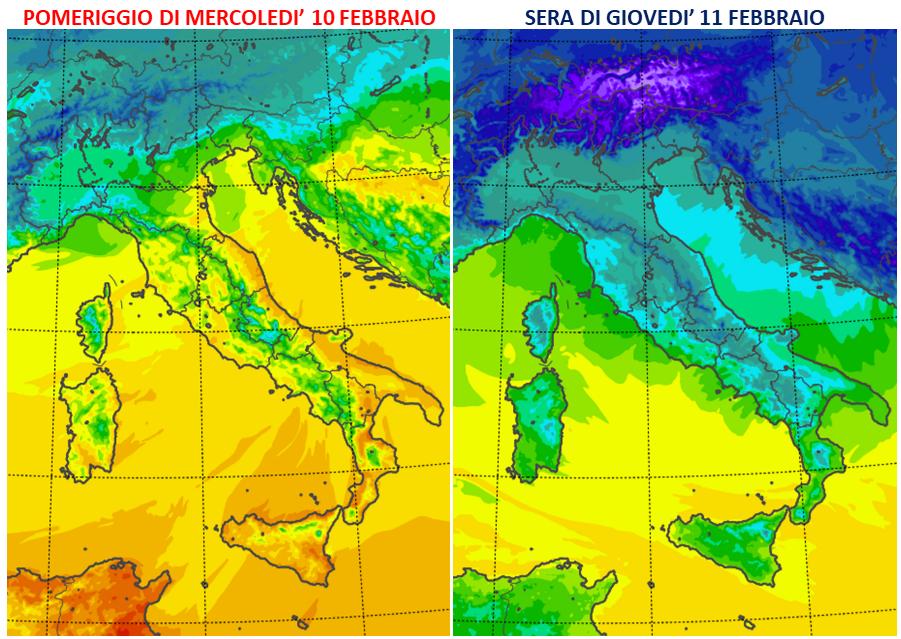previsioni meteo 10 11 febbraio 2021