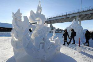 sculture ghiaccio fur rendezvous