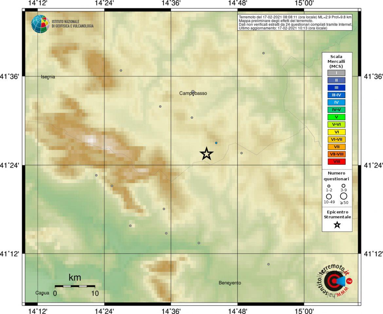 terremoto campobasso oggi
