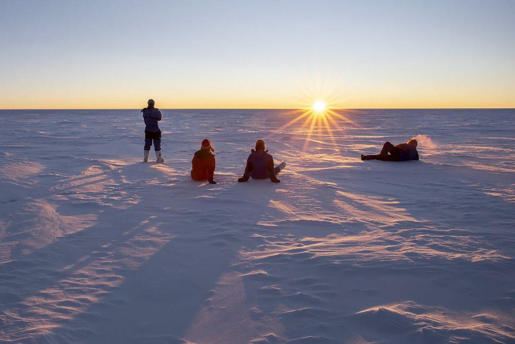 tramonto antartide