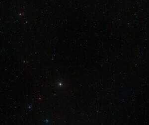 Panoramica della regione di cielo in cui si trova il quasar P172+18