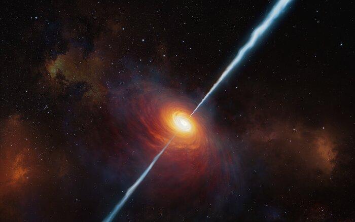 Rappresentazione artistica del quasar P172+18
