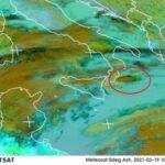 Etna, la nube di cenere ha superato la Calabria ed è già sullo Jonio in direzione Grecia [VIDEO]