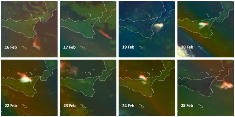 Immagini  Meteosat-11 Ash RGB