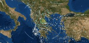 mappa ingv terremoto grecia