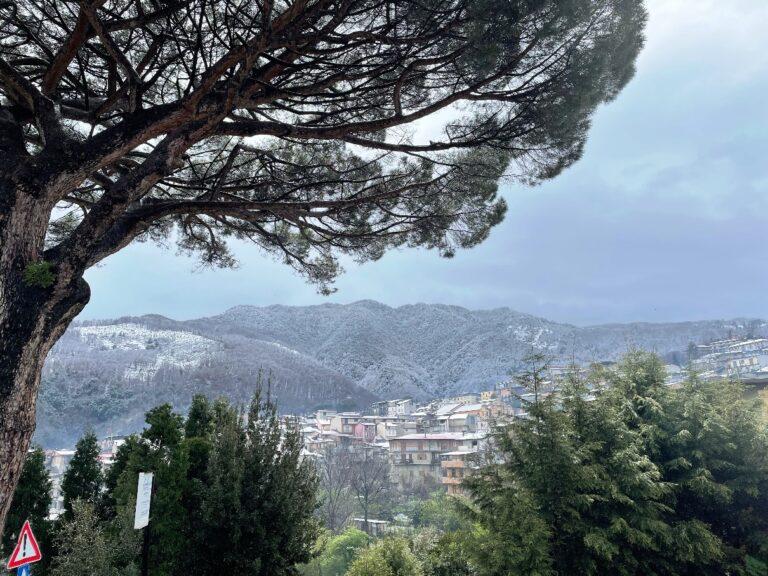 La neve in Aspromonte vista da Delianuova - Foto di Alessia Zappalà