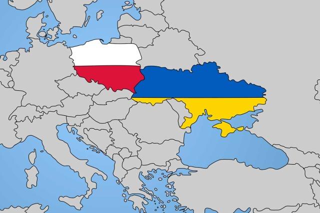 polonia ucraina bandiere