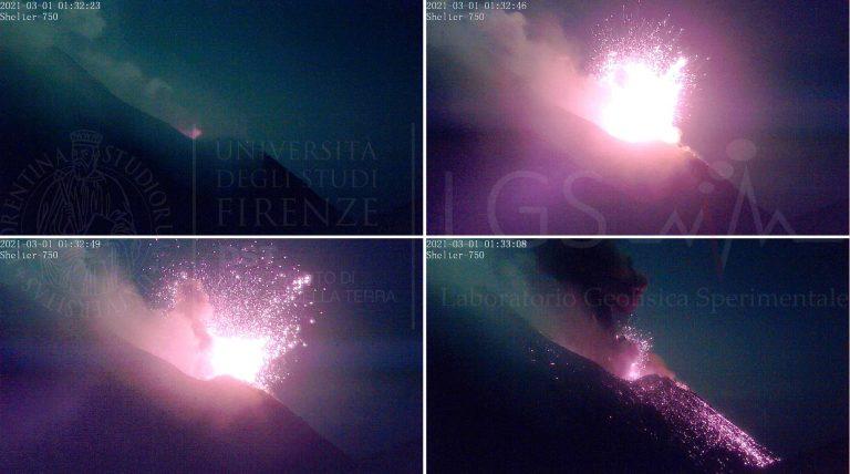 Figura 4 - Prima esplosione alle 01:32:40 UTC (02:32:40 Locali)