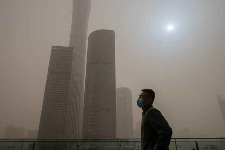 Pechino. Foto di Roman Pilipey / Ansa