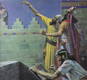 Sacerdoti-Astronomi di Babilonia mentre osservano il cielo