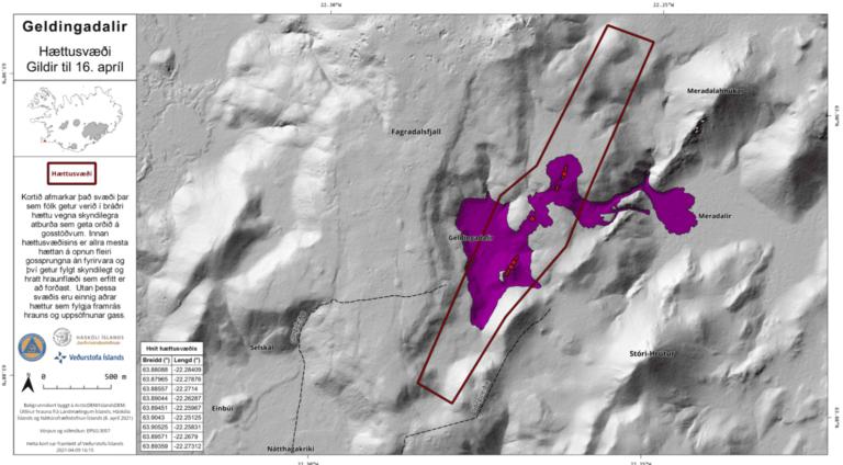 La linea rossa indica l'area in cui potrebbero aprirsi nuove fessure. Credit: IMO