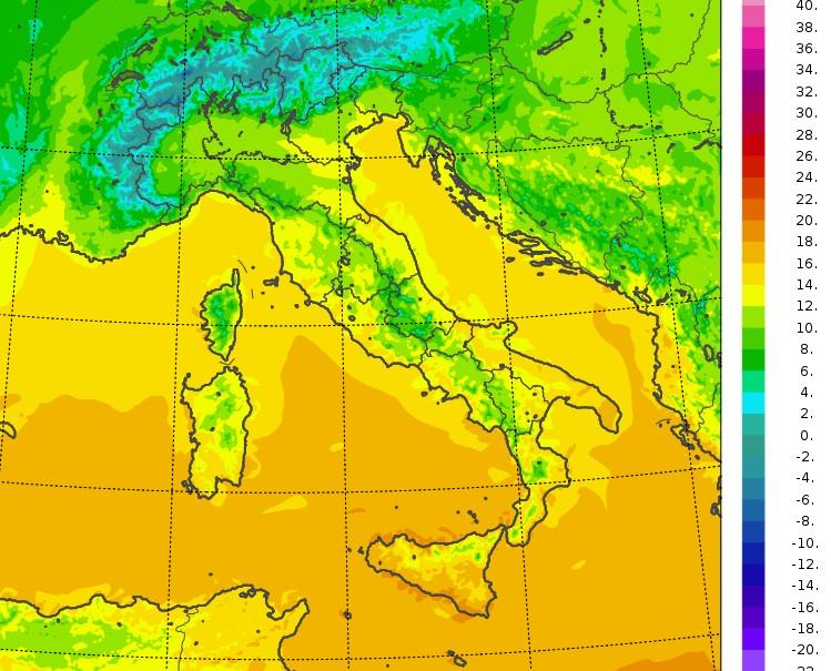 il meteo temperature minime italia oggi