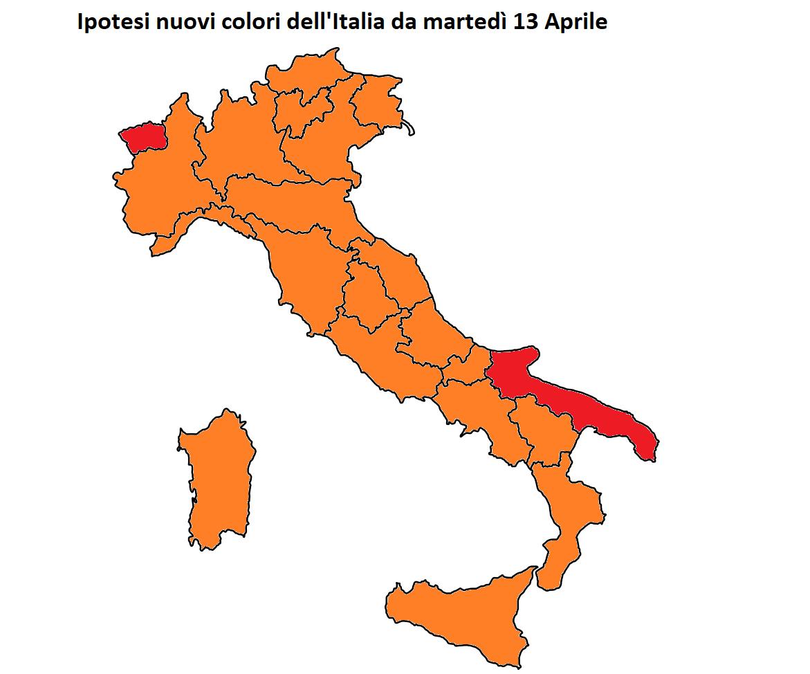 Covid, la Toscana potrebbe tornare zona arancione da martedì 13 aprile