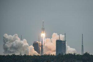 lancio cina stazione spaziale