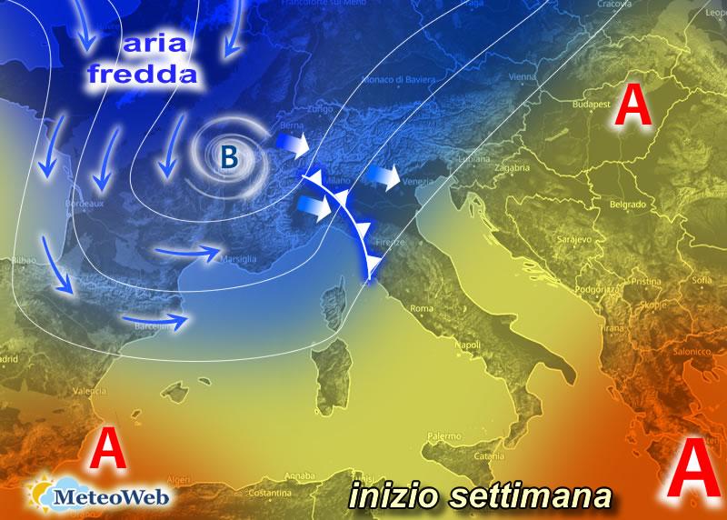 Meteo: WEEKEND tra PIOGGIA, FORTE SCIROCCO e nuovo CALO TERMICO, ultime novità