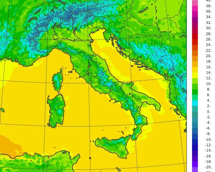 temperature minime italia