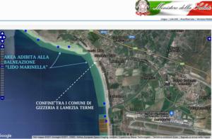Area adibita alla balneazione LIDO MARINELLA