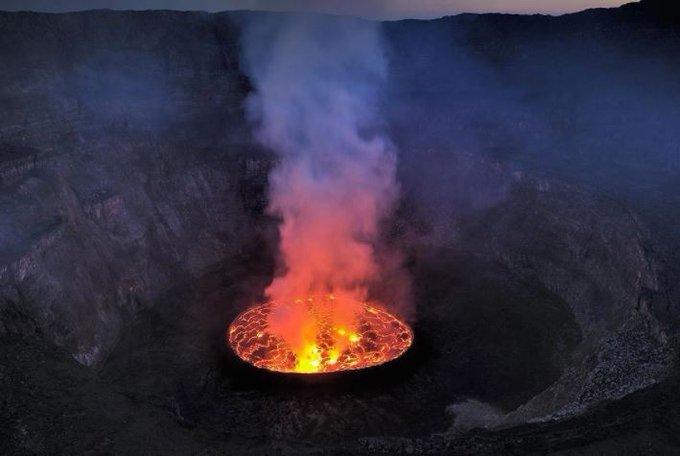 Il vulcano Nyiragongo