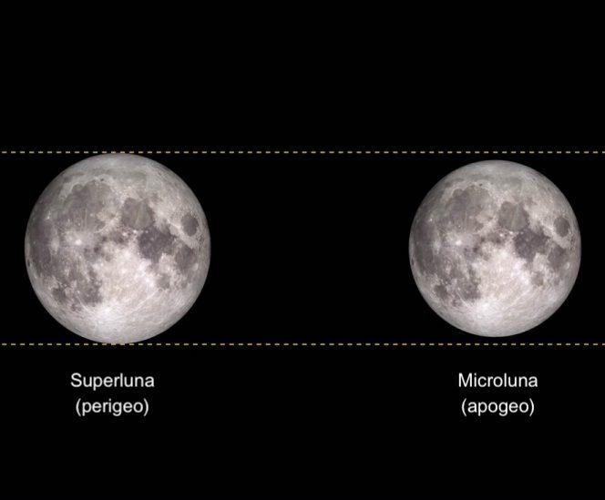 Superluna confronto Nasa
