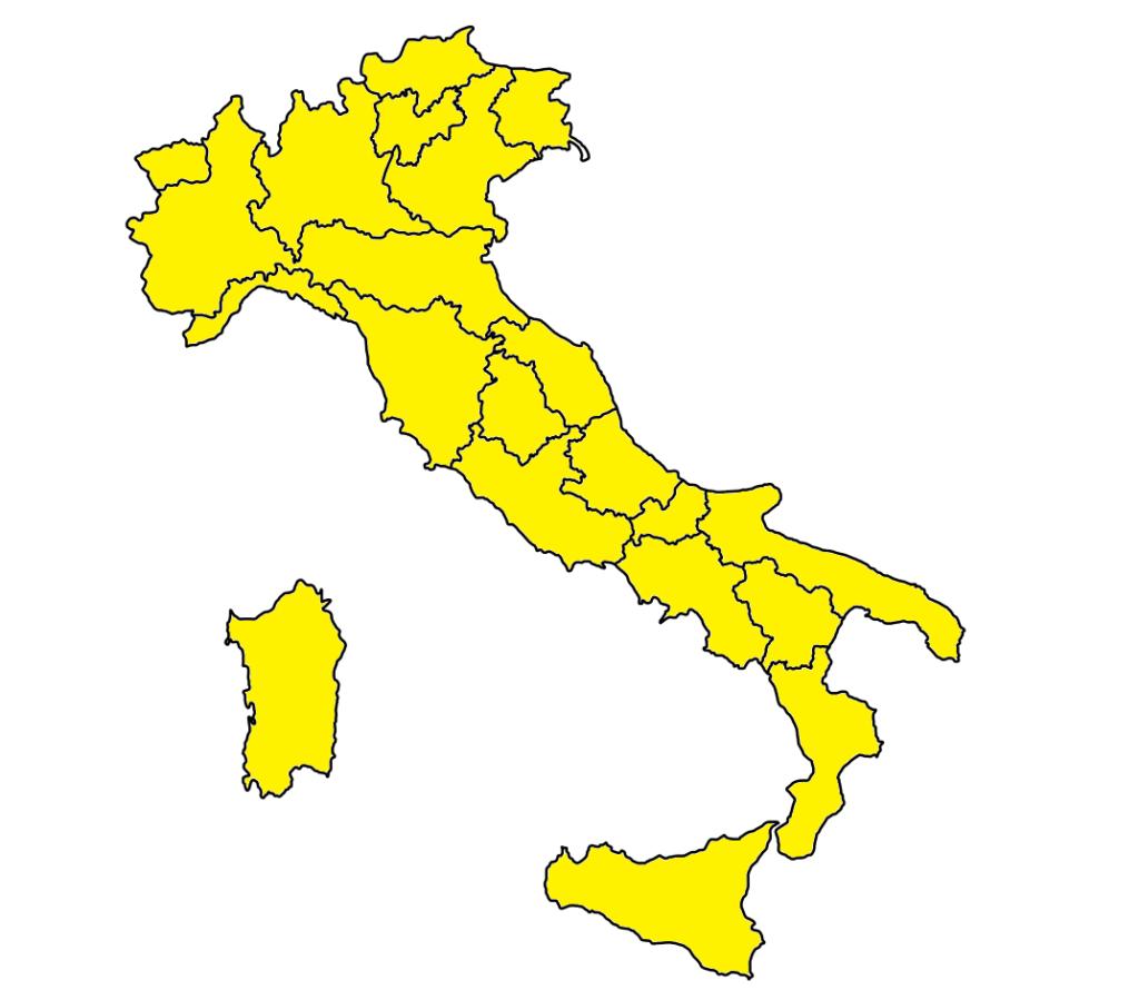 coronavirus colori regioni italia