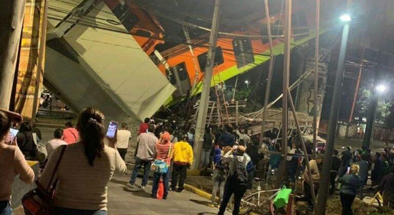 Crolla un ponte mentre passa la metro, 15 morti e 70 feriti a Città del Messico
