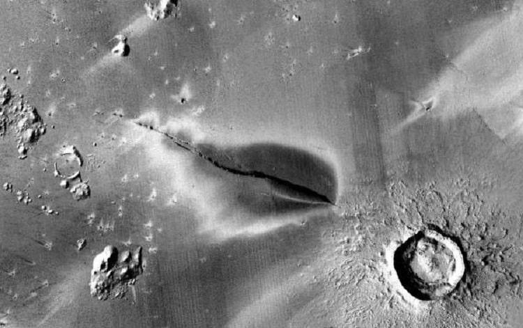 depositi vulcanici marte