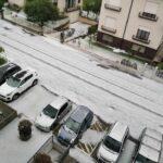 Maltempo, violenti temporali con grandine in Veneto: Castelfranco ricoperta di bianco, vigneti sepolti dal ghiaccio nel Trevigiano [FOTO e VIDEO]