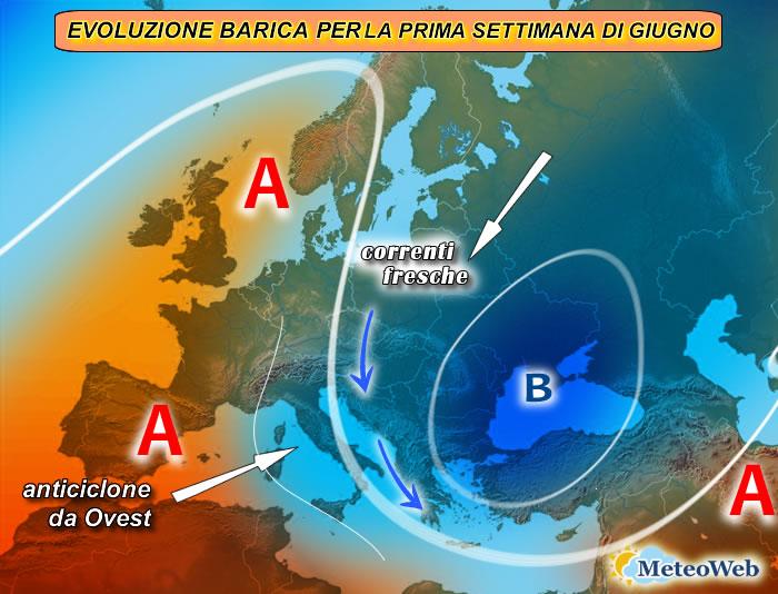 previsioni meteo 1-7 giugno