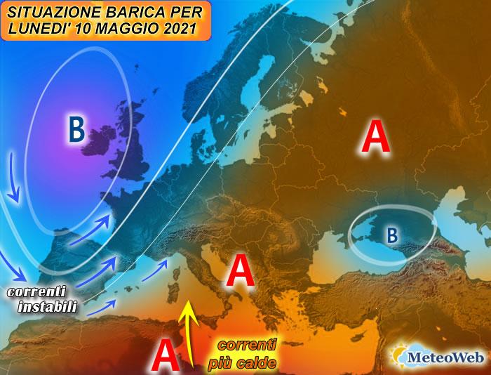 previsioni meteo 10 maggio