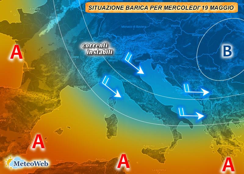 previsioni meteo 19 maggio