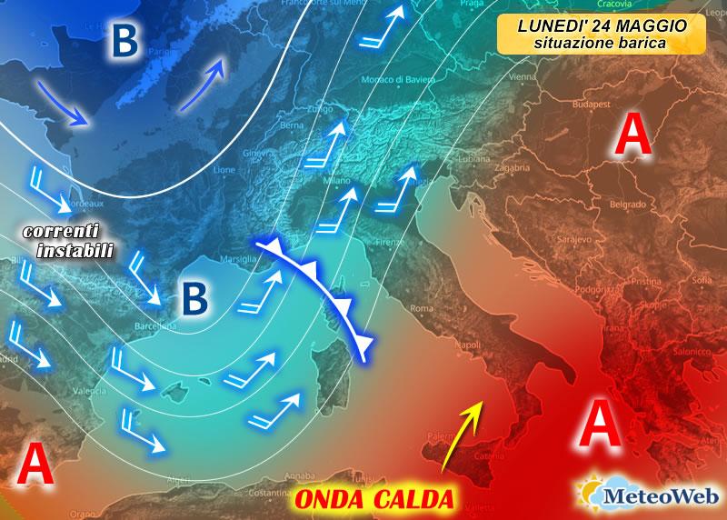 previsioni meteo 24 maggio
